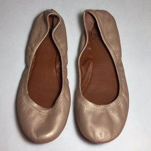 Lucky Brand Rose Gold Emmie Flats Size 6.5